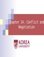 Ch 14. Conflict and Negotiation.ppt