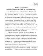 Huntington Essay Critique Review