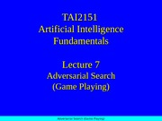 28195_Lecture07 Adversarial Search