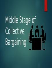 Middle Stage of Collective Bargaining