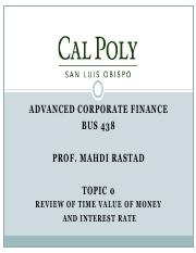 Topic1-Review of Time Value of Money and Interest Rate