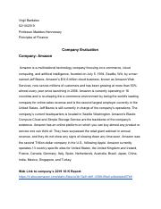 Company Evaluation Priciples of Finance.pdf