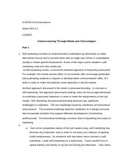 CO2520 Analysis 6.1 - Communicating through Media and Technologies.docx