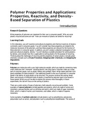 4A F14 Polymers II Applications and Properties