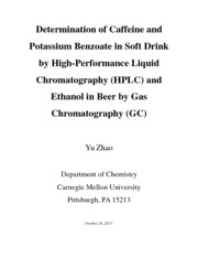 Determination of Caffeine and Potassium Benzoate in Soft Drink by High