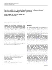 In vitro and in vivo biological performance of collagen-chitosan