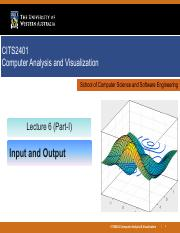 Lec 6 - Input and Output