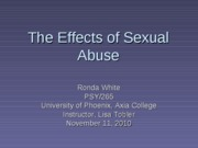 Efects of sexual assault