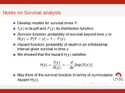 Survival Analysis Notes