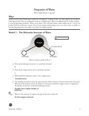 5 Properties of Water-S - Jordon Layne - Properties of Water What ...