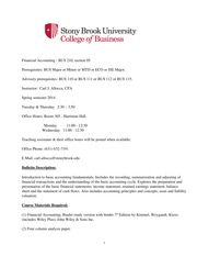 BUS 210 Financial Accounting Syllabus