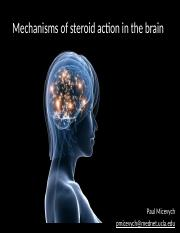 Steroid action in the Brain 2015 posted v2