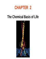 Ch02 The chemical bases of life