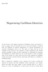Hall S - Negotiating Caribbean Identities