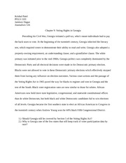 POLS 1101 Chapter 9 Essay