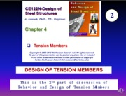 CE122-Ch04-B-Tension Members-Astaneh--Fall-2015