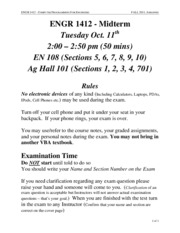 ENGR1412 F11 Midterm Rules