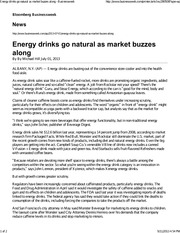 Energy drinks go natural as market buzzes along - Businessweek