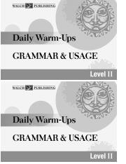 Bellwork Grammar Book