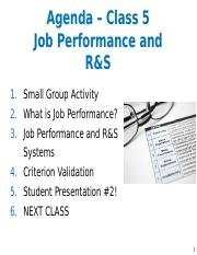 Class 5 - R&S and Job Performance Slides.pptx