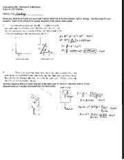 Exam 1 Solution Spring 2008 on Mechanics of Materials