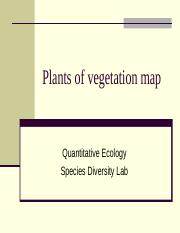 Plants of vegetation map