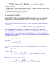 PHYS 2207  Fall 2014- Homework 10 Solutions
