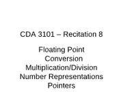 CDA3101-F11-Recitation08