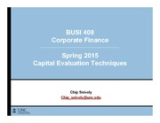 BUSI 408 - Capital Evaluation