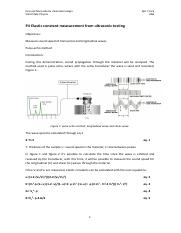 P4 Elastic constant measurement from ultrasonic testing