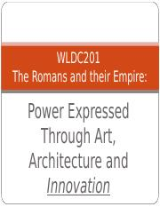 WLDC1 chapter 4 Roman Architecture and Innovation.ppt
