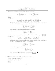 Math 334  Assignment 6 Solutions
