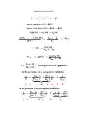 Equations for Enzyme Kinetics.docx