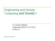 12 - Computing and Society I