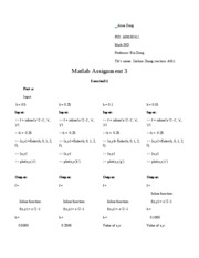 Matlab assignment 3
