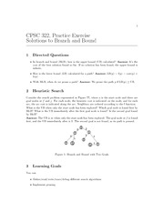 CPSC 322 Fall 2010 Excercise Worksheet 3 Solutions