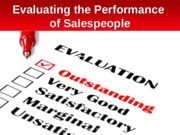 Chapter 10:  Evaluating the Performance of Salespeople