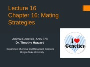 Lecture 16 Chapter 16