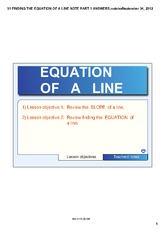 FINDING THE EQUATION OF A LINE PART 1