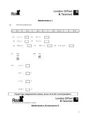 Maths Tests and Answers.doc