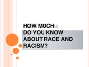 How Much Do You Know About Race and Racism