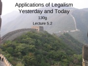 Legalism Applications(5.1B)