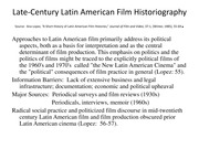 Latin American Film Historiography (1)