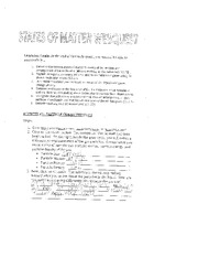 State of Matter WebQuest Worksheet Answers