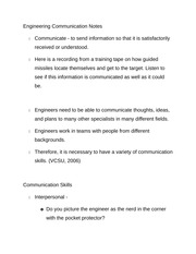 Engineering Communication Notes