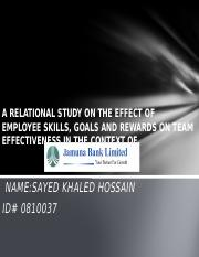 A Relational Study on the effect of Employee