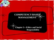 Chapter 3-Ethics and Social Responsibility