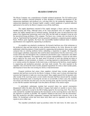 The Blozis Company--Unit 2 Assignment, Chapter 3