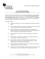 Rosen Professional Internships - Employer Agreement