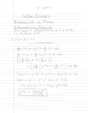 notes on 3.7- implicit differentiation part II